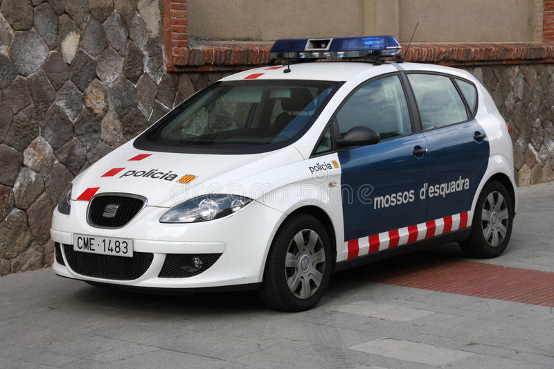 Download Police in Catalonia editorial photography. Image of altea - 12763632