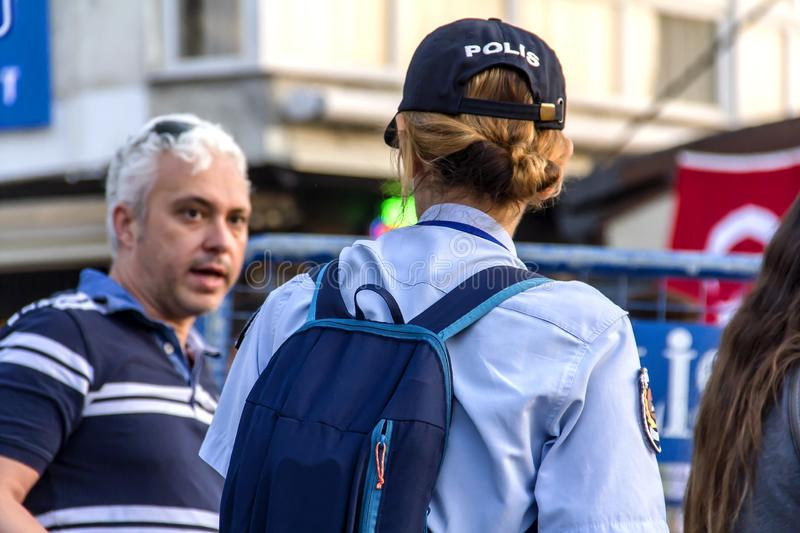 Police Check Inside Of The Crowd stock photo