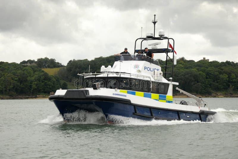 Police coastal patrol stock image