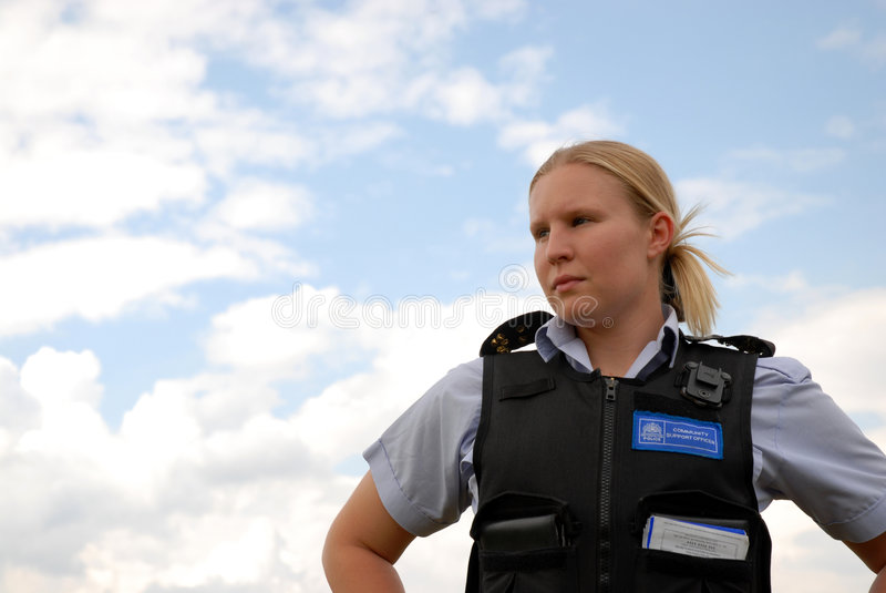 Police Community Officer stock photography