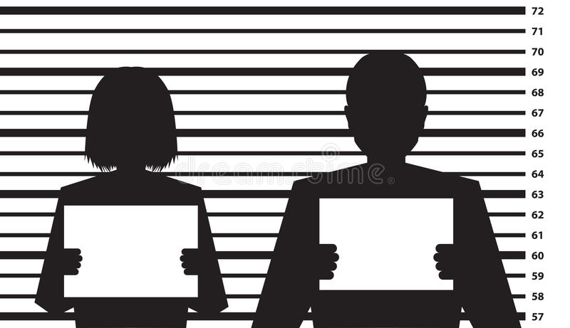 Police criminal record template royalty free illustration