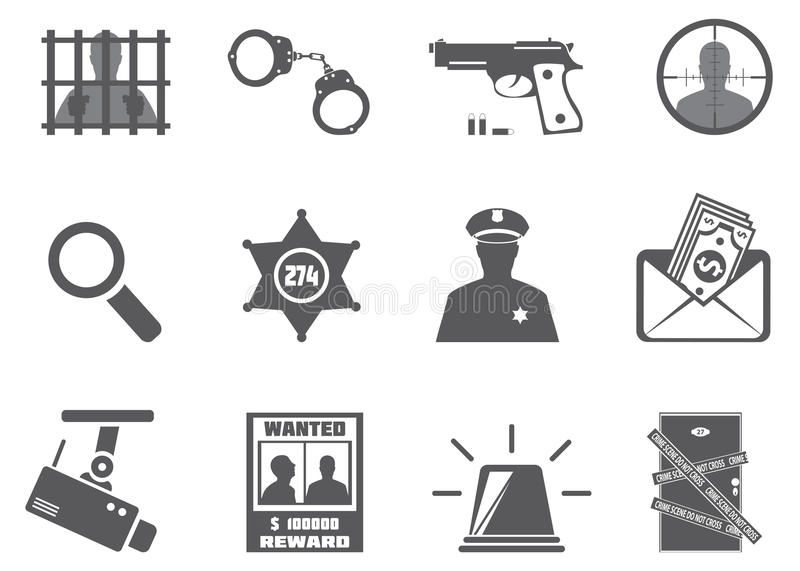Download Police and criminality stock vector. Illustration of door - 28099247