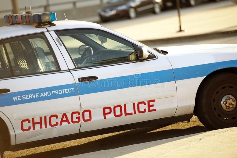 Police Cruiser in Chicago stock image
