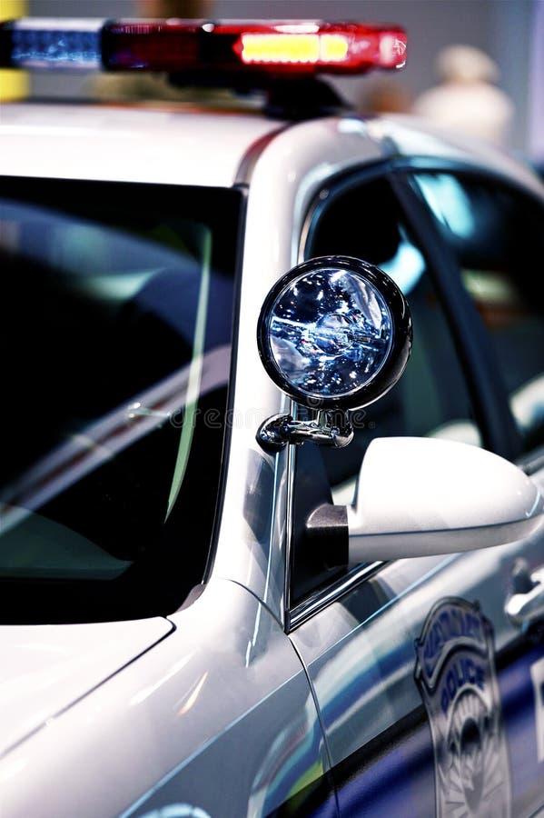Police Cruiser. Spot Light - American Police Vehicle Closeup royalty free stock photos