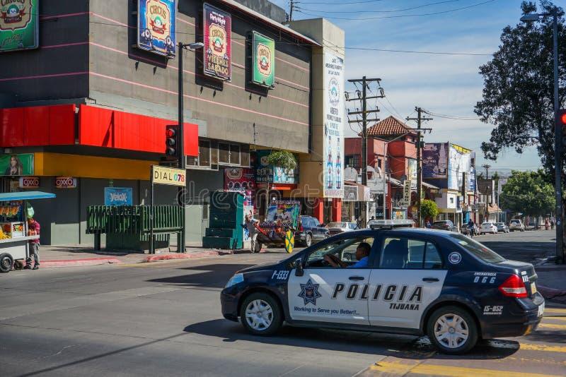 Police Cruiser, Tijuana, Mexico stock images