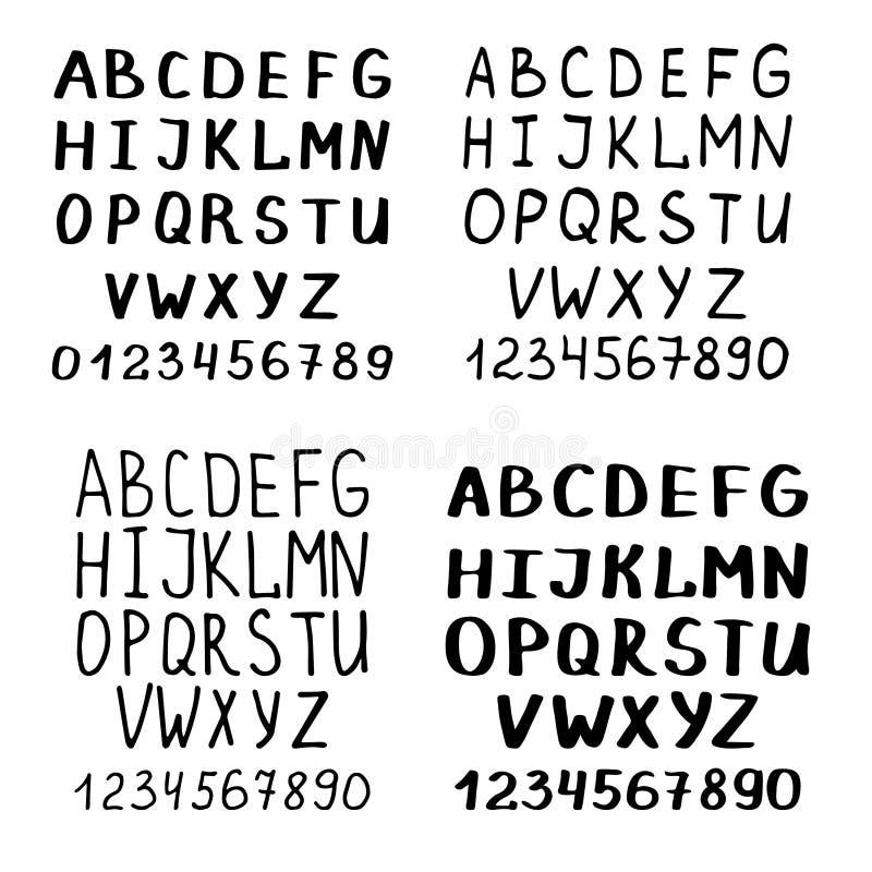 Bien connu Police D'écriture Ou Alphabet Latin De Calligraphie Illustration  JZ49