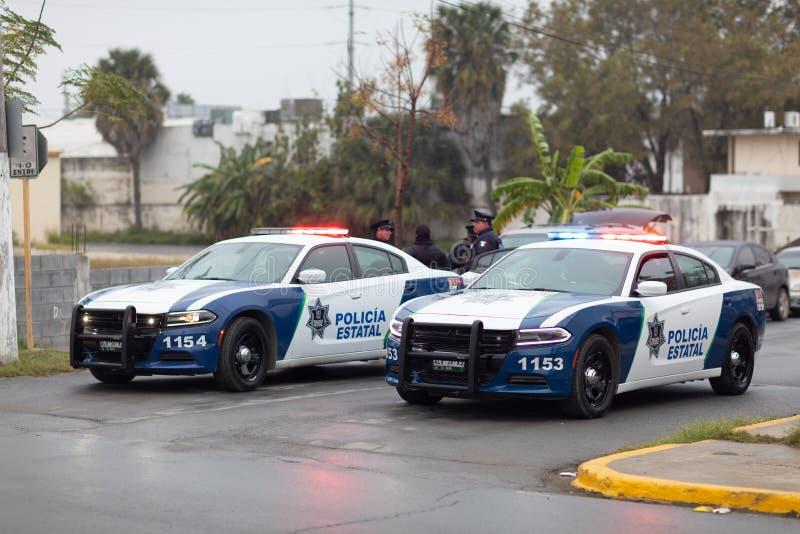 Police d'état de Tamaulipas photographie stock libre de droits