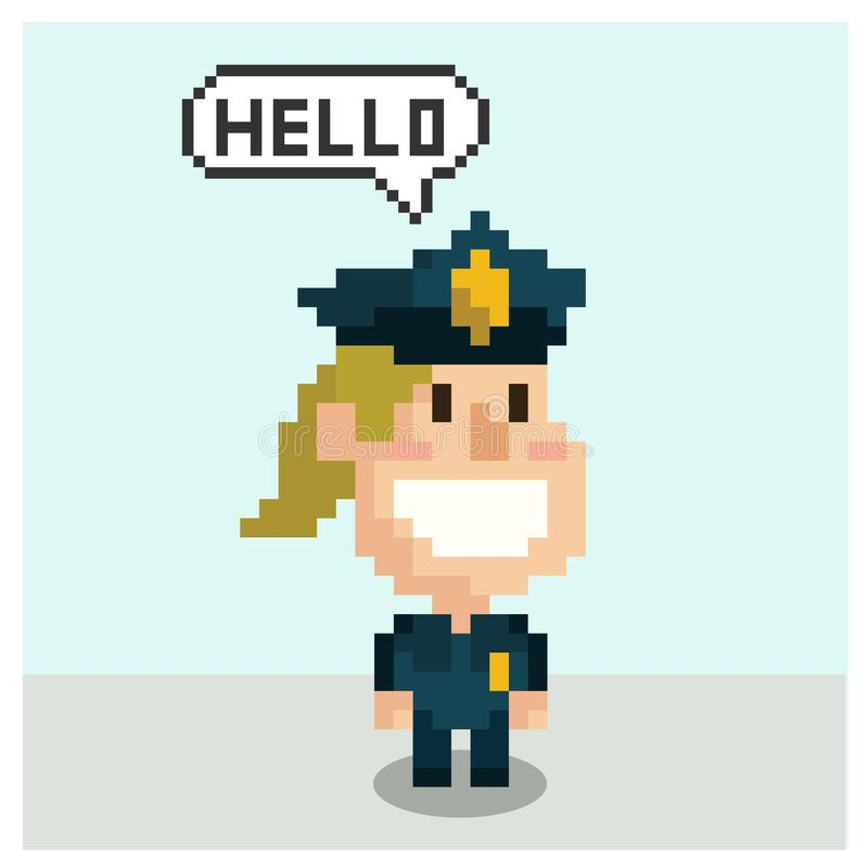 Police dans l'art de pixel illustration libre de droits