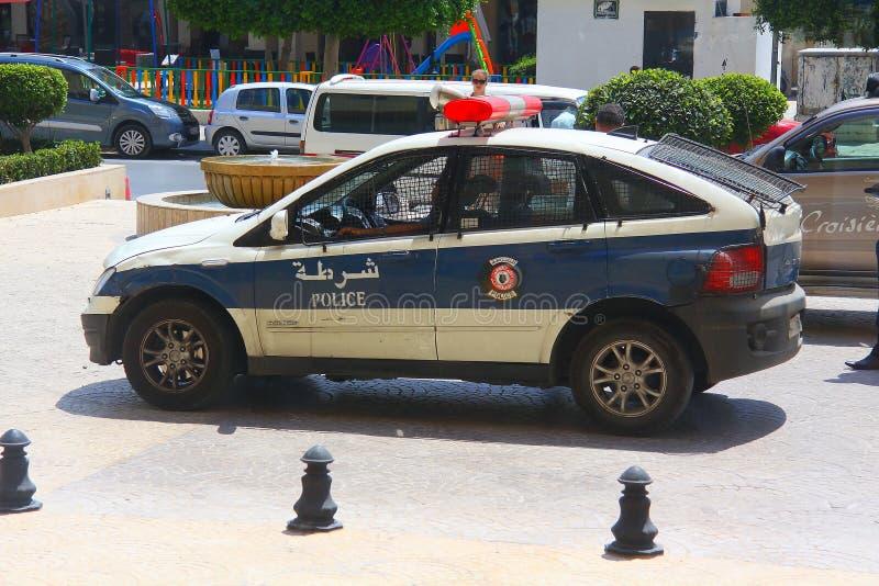 Police dans la ville tunisienne de Sousse photos libres de droits