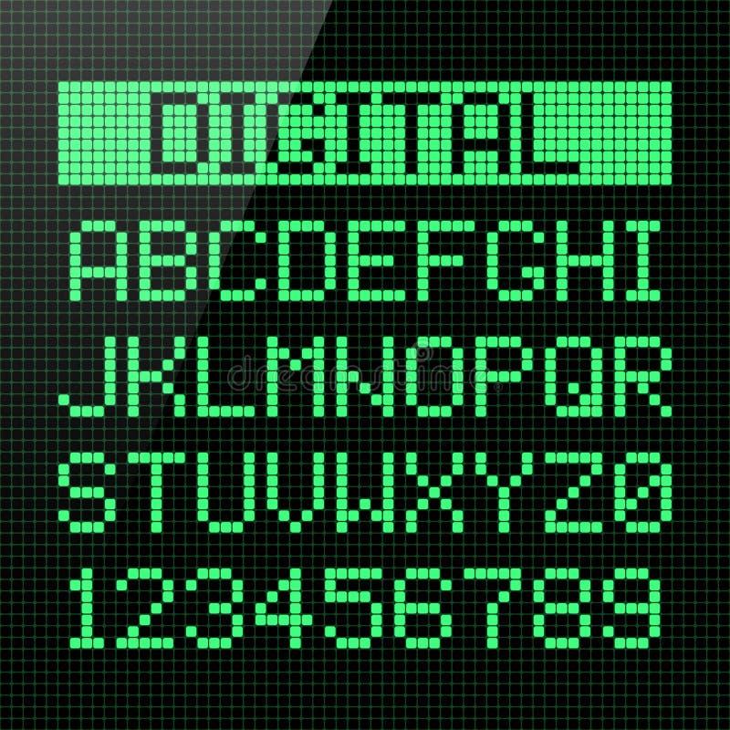 Police de Digital illustration libre de droits