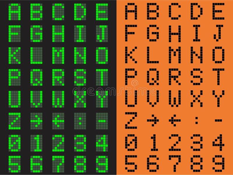 Police de Digital Vert et orange illustration stock
