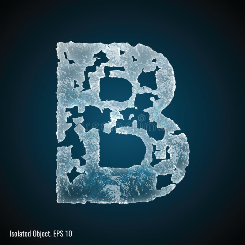 Police de glace de la lettre B illustration libre de droits
