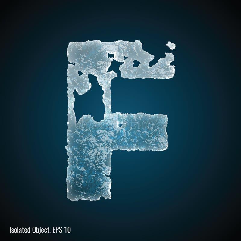Police de glace de la lettre F illustration libre de droits
