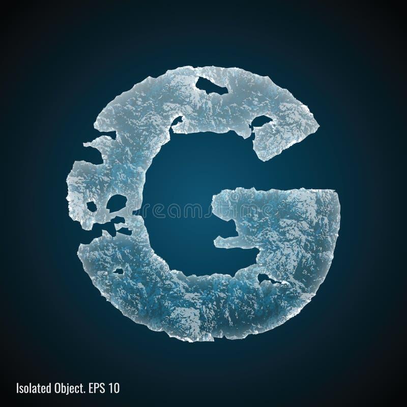 Police de glace de la lettre G illustration stock