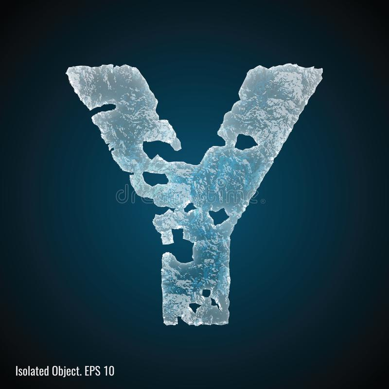 Police de glace de la lettre Y illustration de vecteur