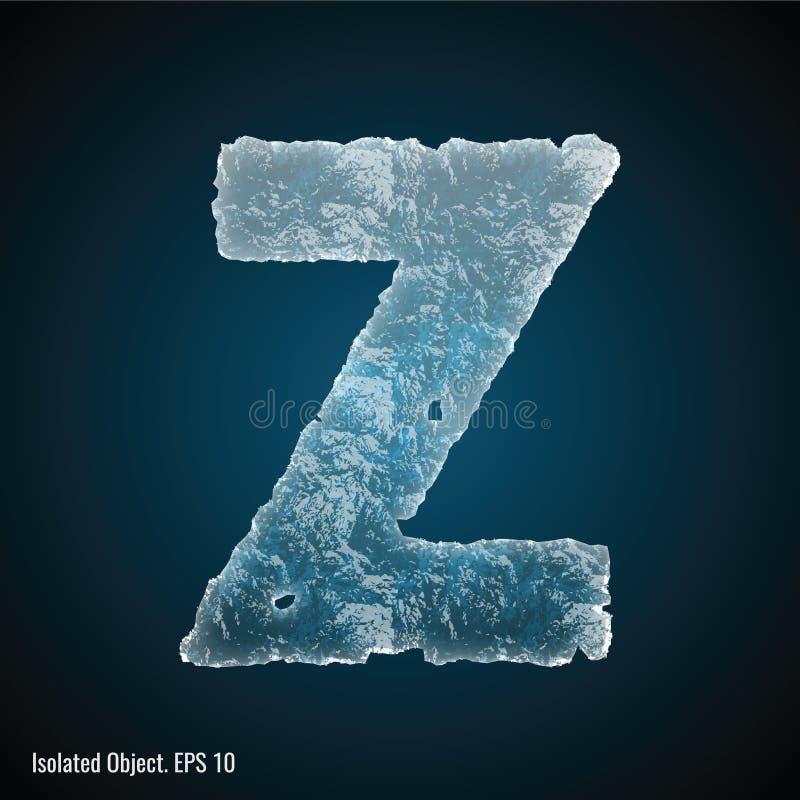 Police de glace de la lettre Z illustration de vecteur