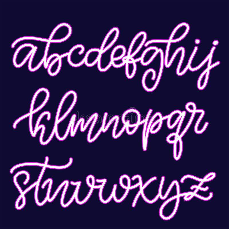 Police de inscription tir?e par la main, alphabet illustration de vecteur