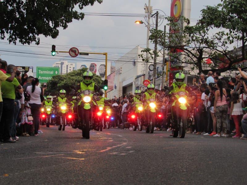 Police de la Colombie photographie stock