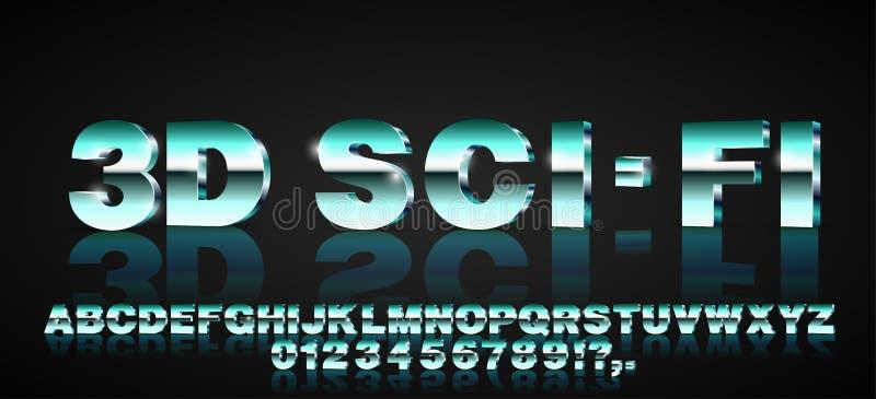 police de la science fiction 3d illustration libre de droits