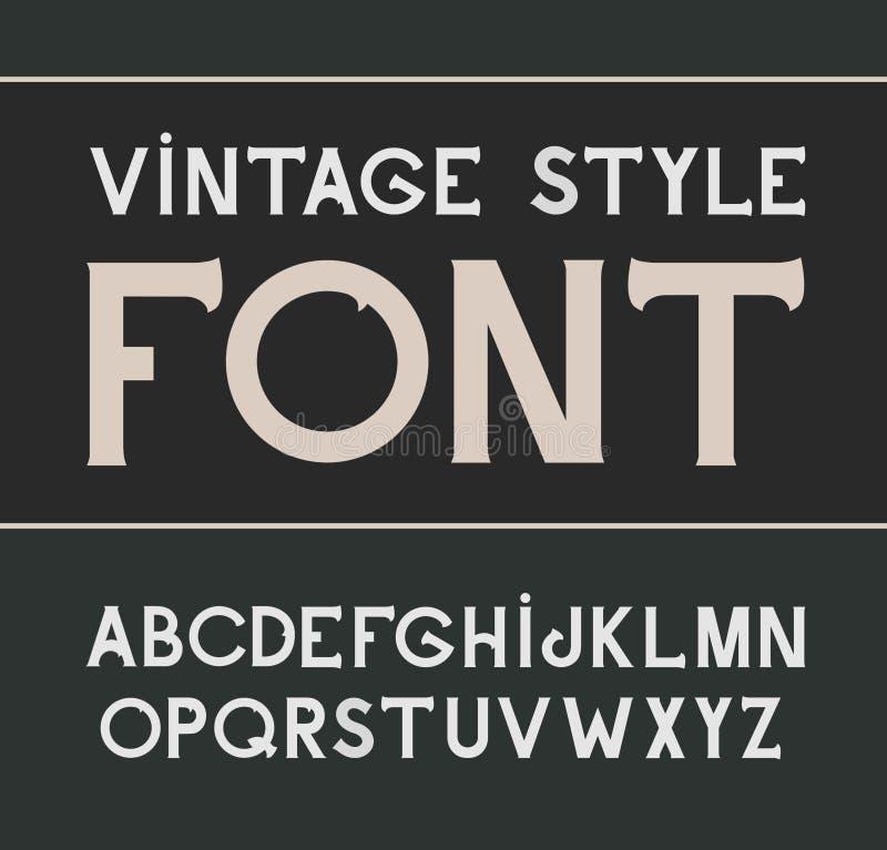 Police de label de vintage de vecteur Style de label illustration stock