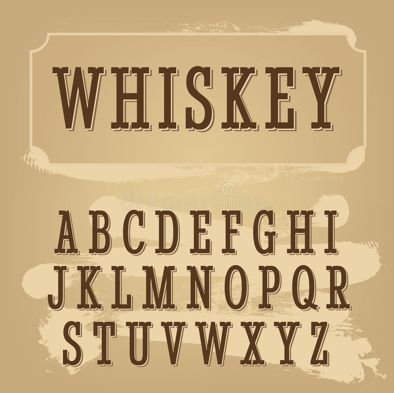 Police de label de whiskey Police de vintage illustration stock