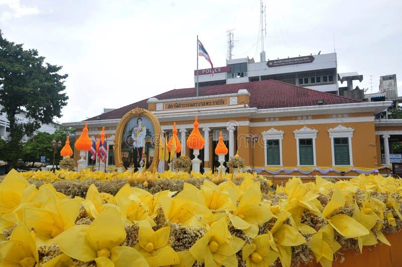 Police de m?tro de Phrarachawang photos stock