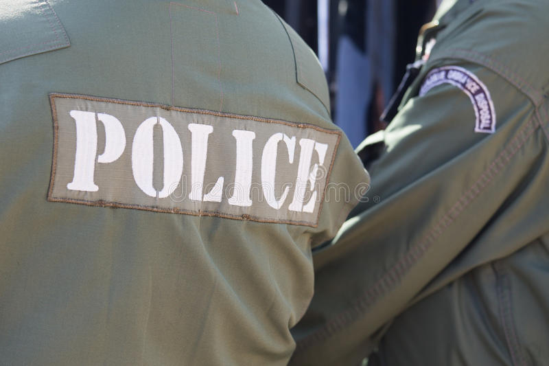 Police de neutralisation des munitions explosives photos stock
