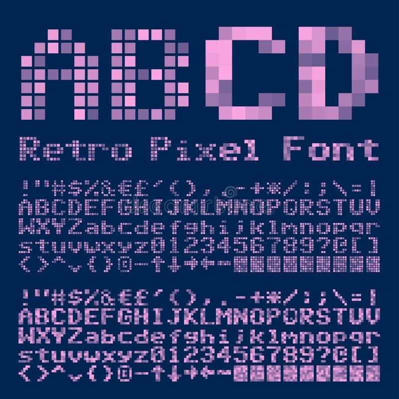 Police de pixel illustration stock