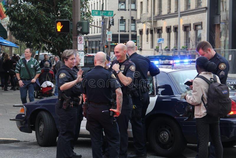 Police de Portland Orégon photo stock