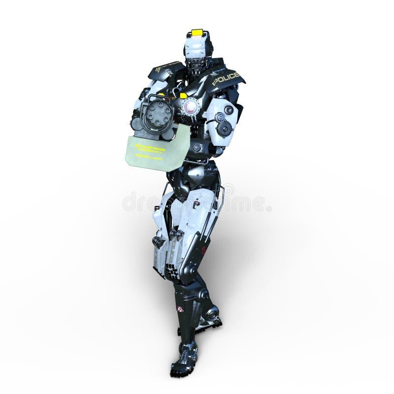 Police de robot illustration de vecteur
