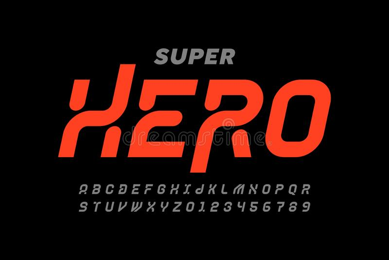 Police de style Comics Super Hero illustration libre de droits