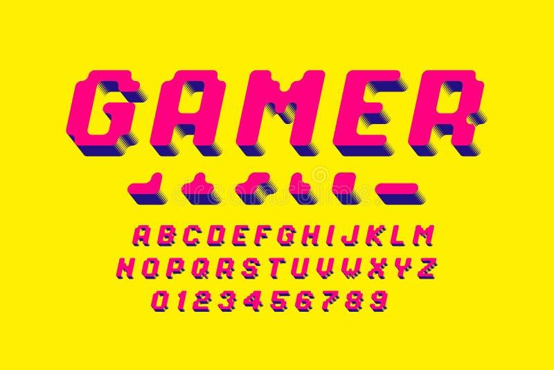 Police de style de pixel illustration de vecteur