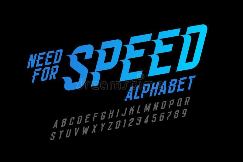 Police de style de vitesse illustration libre de droits
