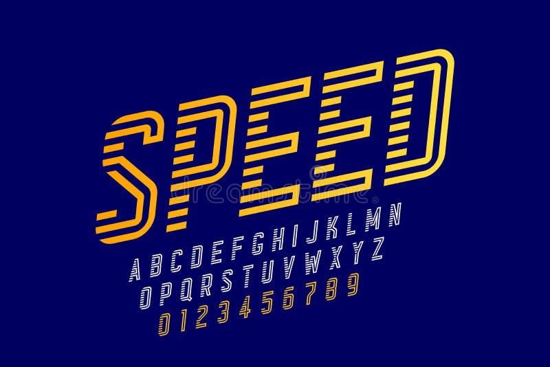 Police de style de vitesse illustration stock
