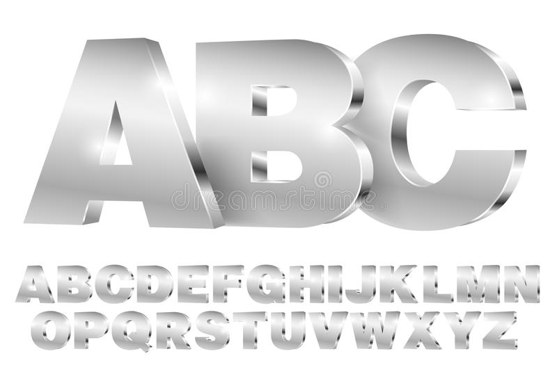 Police de vecteur d'alphabet illustration libre de droits