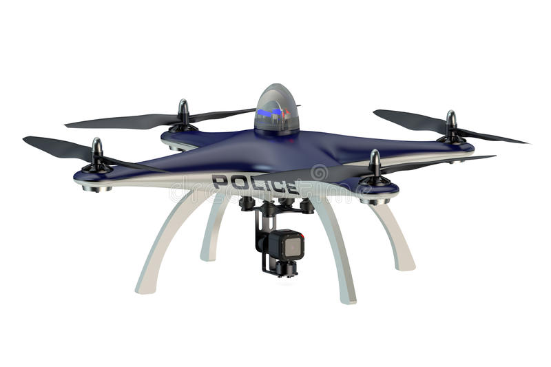 Police Drone royalty free illustration