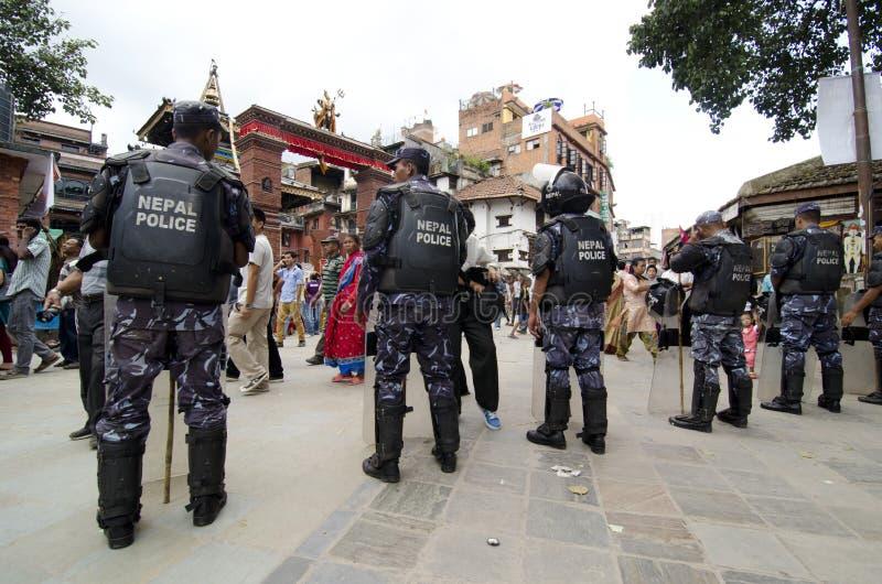 Police du Népal images libres de droits