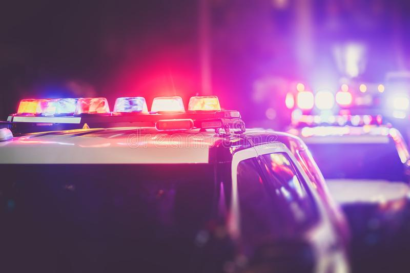 Police DUI Checkpoint royalty free stock photos