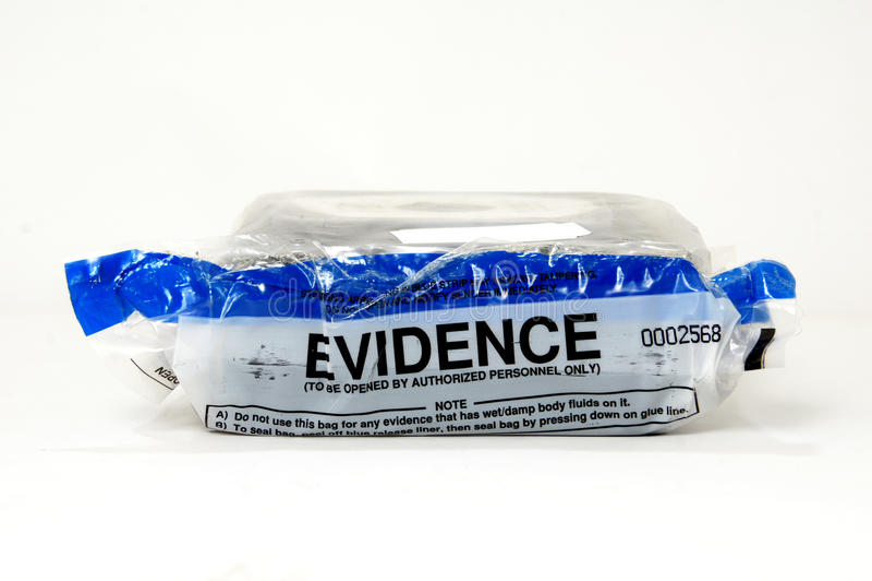 Police evidence bag stock photos