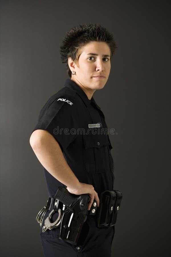 Police féminine. photos stock