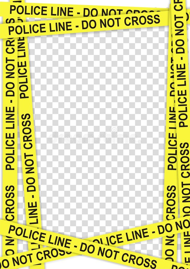 Police frame stock illustration. Illustration of restricted - 5923692