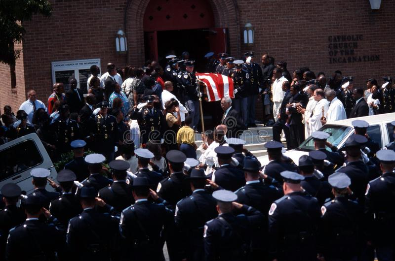 Police funeral stock photo