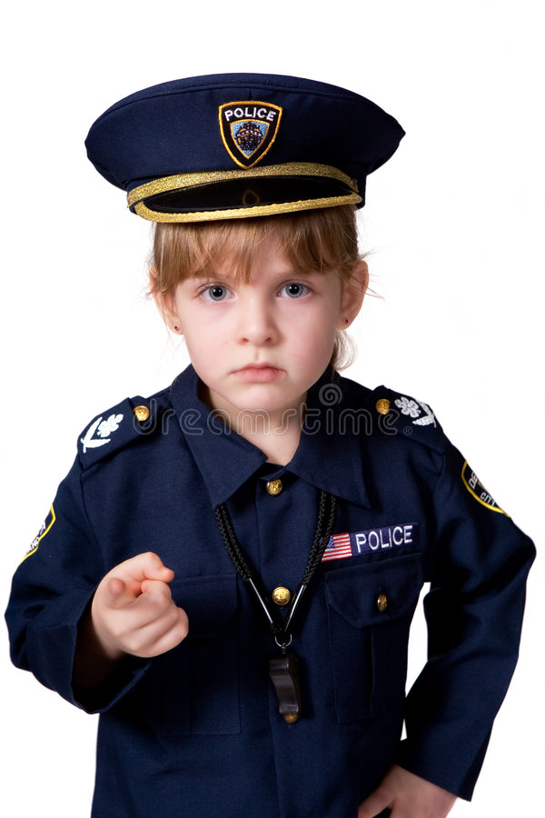 Download Police Girl on Duty stock image. Image of clohtes, costume - 4428659
