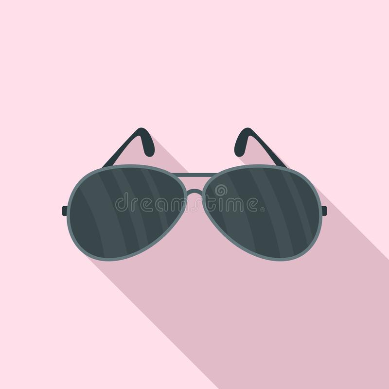 Police glasses icon, flat style royalty free illustration