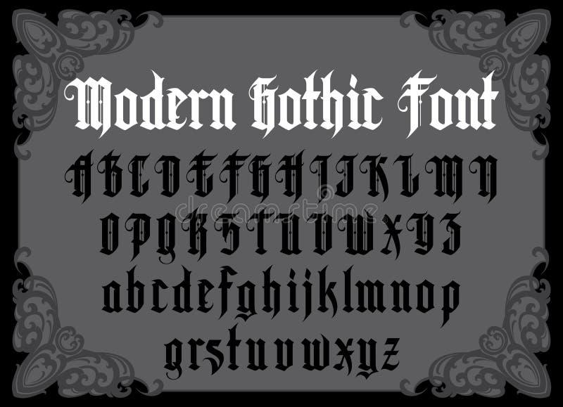 Police gothique moderne illustration libre de droits
