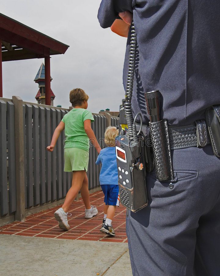 Police Guardian watching royalty free stock image