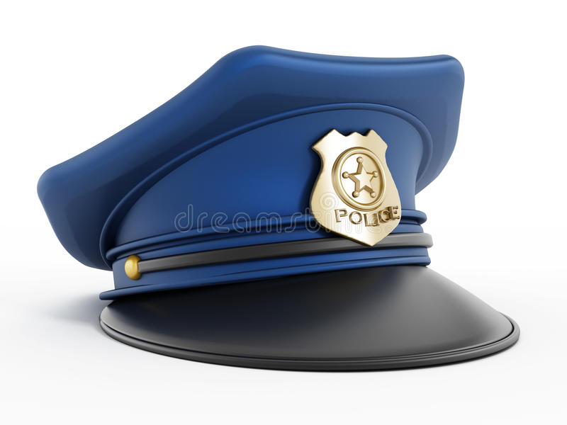 Police hat. Isolated on white background vector illustration