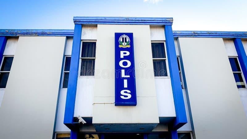 Oranjestad, Aruba - November, 2019: Police headquarter of Aruba Police Force stock photo