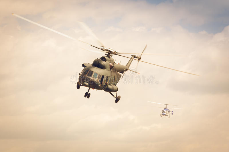 Police helicopter Mi-2 stock photos