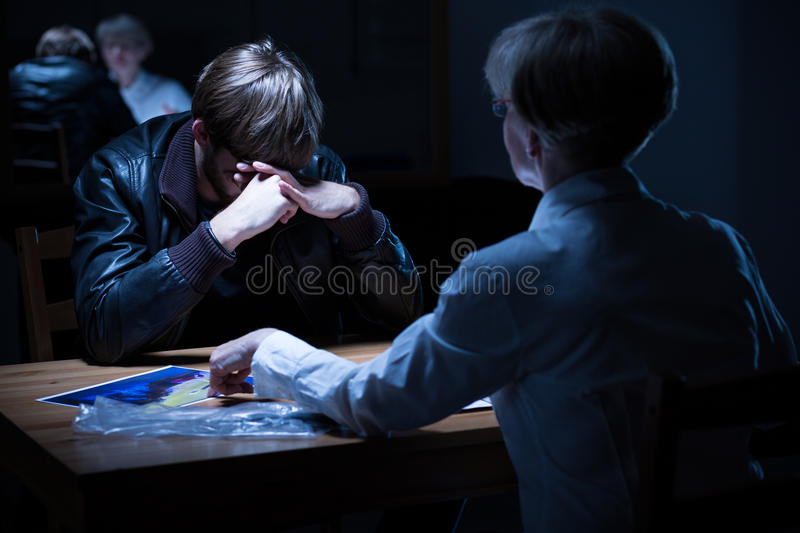 Police interrogation room royalty free stock images